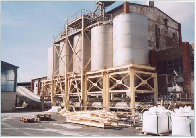 Instalación en fábrica de empaquetado de sal seca