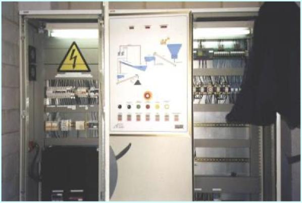 Cuadro de control con sinóptico de la instalación